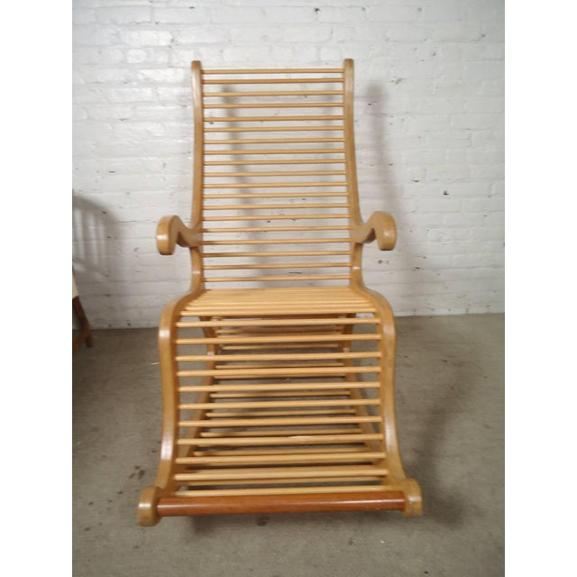 Modern Wood Rocking Chair For Sale - Image 3 of 7