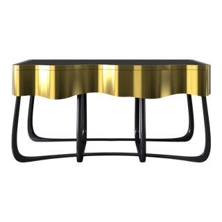 Covet Paris Sinuous Gold Console Table For Sale