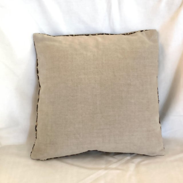 Asian Leopard Pillow Cowhide Leather Pottery Barn For Sale - Image 3 of 11