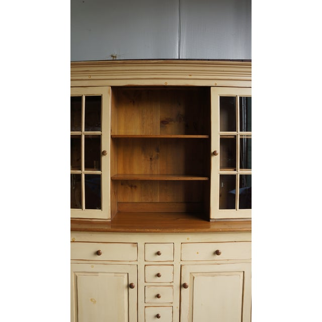 20th Century Cottage Farmhouse China Hutch For Sale - Image 9 of 11
