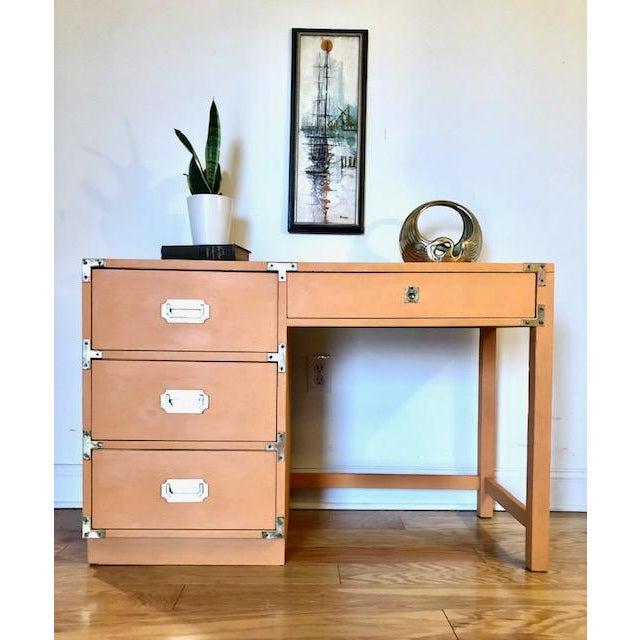 1960s Campaign Bernhardt Writing Desk For Sale In Philadelphia - Image 6 of 7