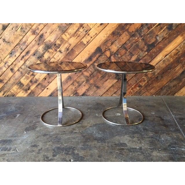 Gardner Leaver for Steelcase Side Tables - Pair - Image 6 of 7
