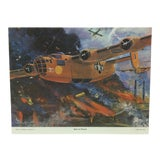 "Image of Original Best of Hubbell Aircraft Print ""Raid on Ploesti"" by Charles H. Hubbell, 1970 For Sale"