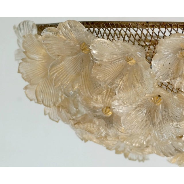 Barovier & Toso Floral Murano Glass Chandelier - Image 5 of 8