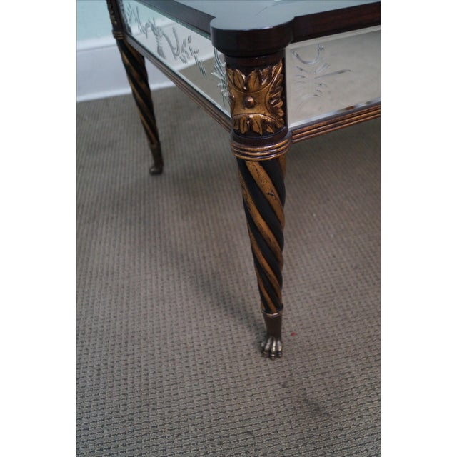 Regency Style Mirror & Gilt Claw Foot Coffee Table - Image 7 of 10