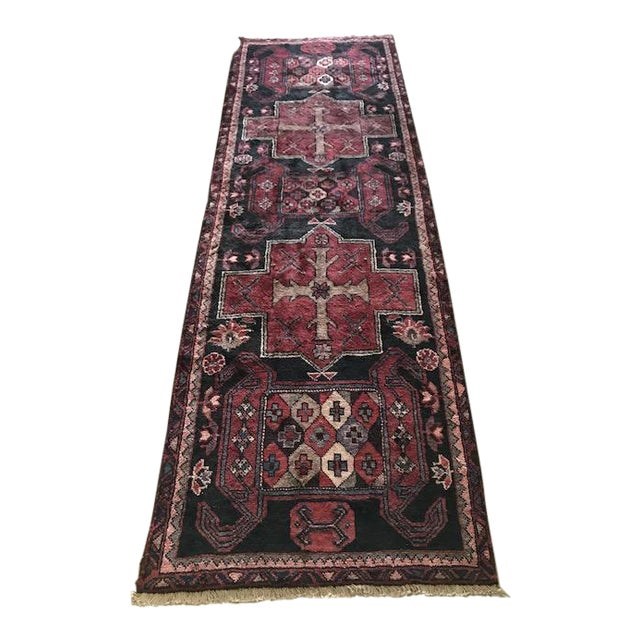 Vintage Persian Area Rug Runner W/ Millennial Pink Accents - Image 1 of 5