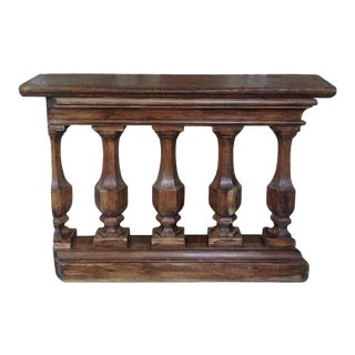 French 19th Century Wooden Balustrade