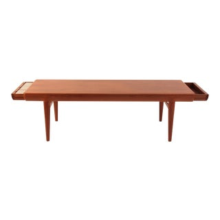 Johannes Andersen Teak Cocktail Table With Drawers For Sale