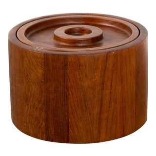 1960s Scandinavian Jens Quistgaard Ihq Dansk Staved Teak Banded Ice Bucket For Sale