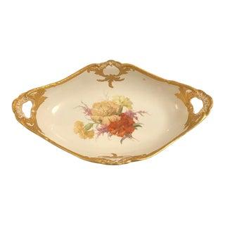 Vintage Kpm Hand Painted Porcelain and Gilt Bowl For Sale