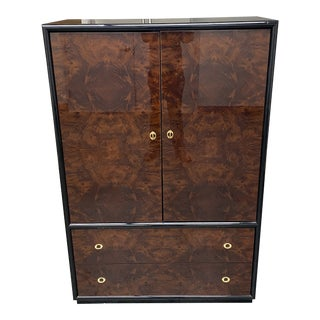 Late 20th-Century SanGiacomo Italian Burled Wood Armoire For Sale