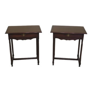 Kittinger Colonial Williamsburg Traditional Style End Tables - a Pair For Sale