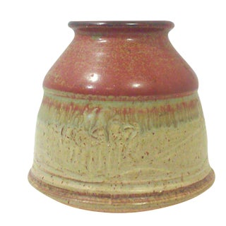 Vintage Studio Pottery Squat Ceramic Vase