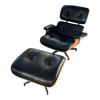 Eames Lounge Chair and Ottoman For Sale