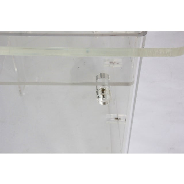 Vintage Lucite Media Console / Bar - Image 5 of 8