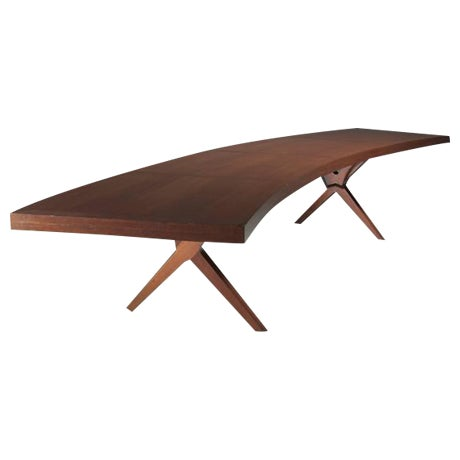 L.E Brevilly Extremely Large Boomerang Shaped Desk, France, circa 1965 For Sale