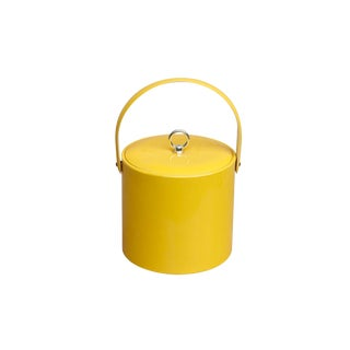 Mid Century Bright Yellow Ice Bucket by Georges Briard
