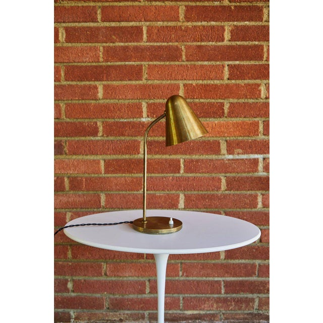 Brass 1950s Mid-Century Modern Brass Table Lamp For Sale - Image 8 of 12