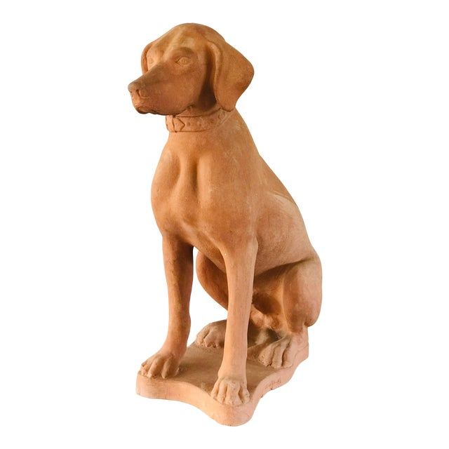 Italian Terracotta Statue of a Hound For Sale