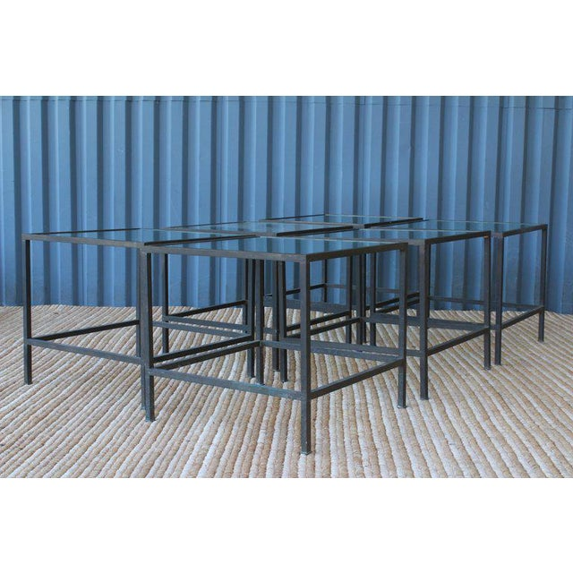 Black Brass Side Table With Heavy Patina, France, 1950s For Sale - Image 8 of 13