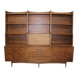 Image of Mid Century Modern Broyhill Sculptra Wall Unit 7pcs For Sale