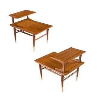 Pair of Vintage Lane Copenhagen Step Tables For Sale