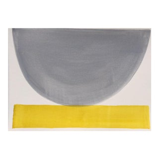 """2010s Abstract Original Painting, """"Gray Day Bowl"""" by Jenny Andrews Anderson"""
