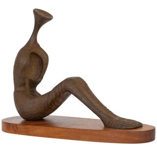 "Nita K Sunderland ""Tomb Figure"" Bronze Sculpture"
