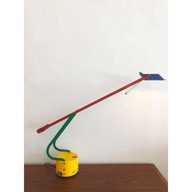 Memphis Post Modern 1980s Memphis Halogen Table Lamp For Sale - Image 3 of 7