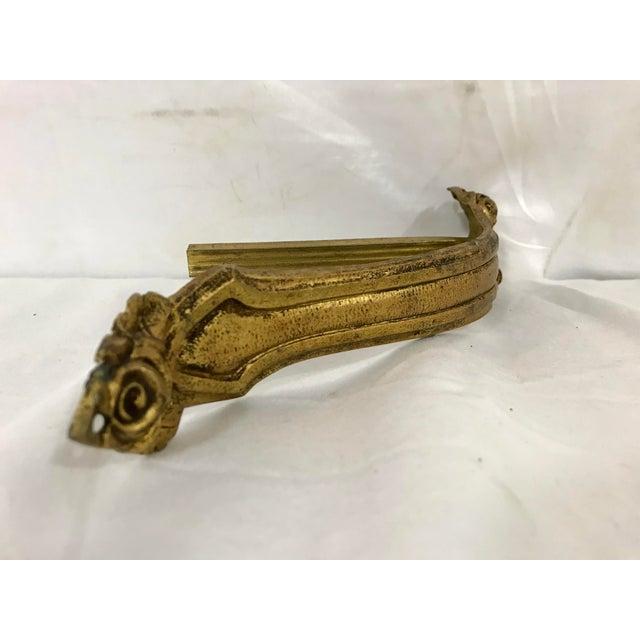 Napoleon III Bronze Dorè Drapery Holders a Pair For Sale - Image 6 of 8