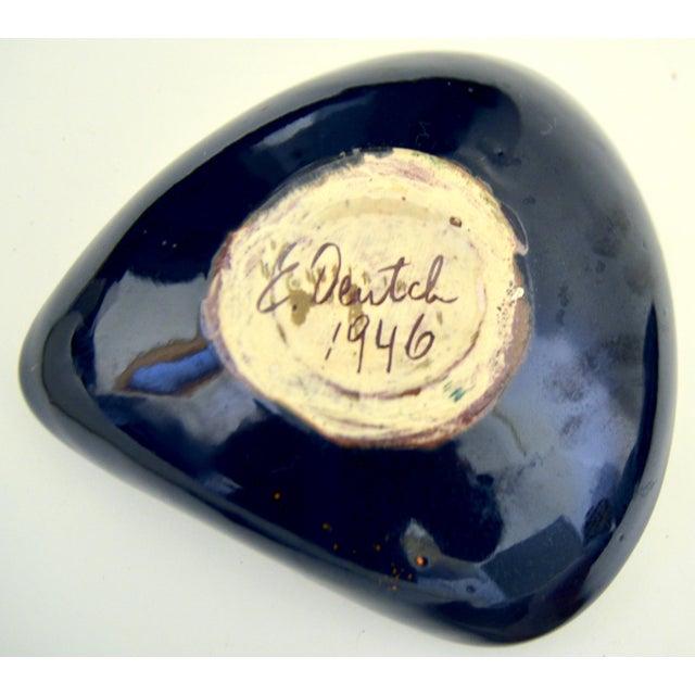 Ceramic Mid Century Eugene Deutch Chicago Modernist Six Ceramic Bowls For Sale - Image 7 of 10