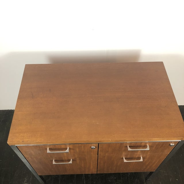 1960s Mid Century Modern Walnut File Drawers by the General Fireproofing Co For Sale - Image 11 of 13