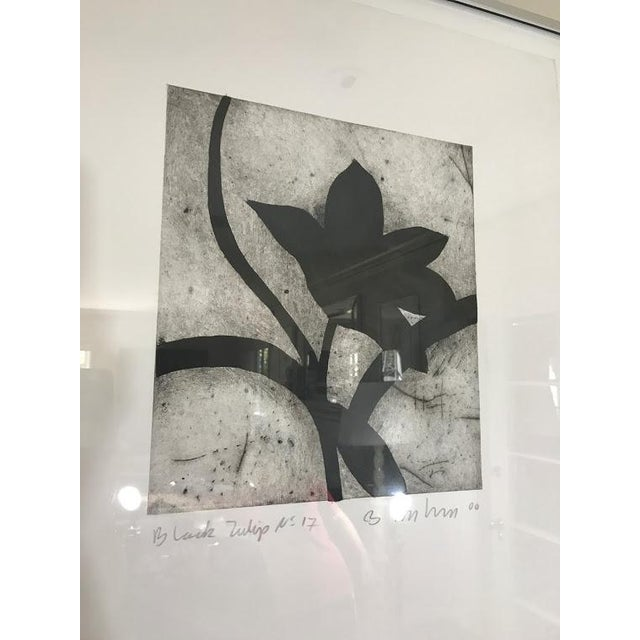 Modern Matching Flower Prints - A Pair - Image 6 of 7