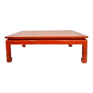 Vintage Lacquered Wooden Coffee Table For Sale