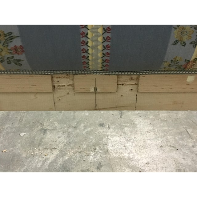 Blue 20th Century French Style Upholstered King Bedframe For Sale - Image 8 of 10