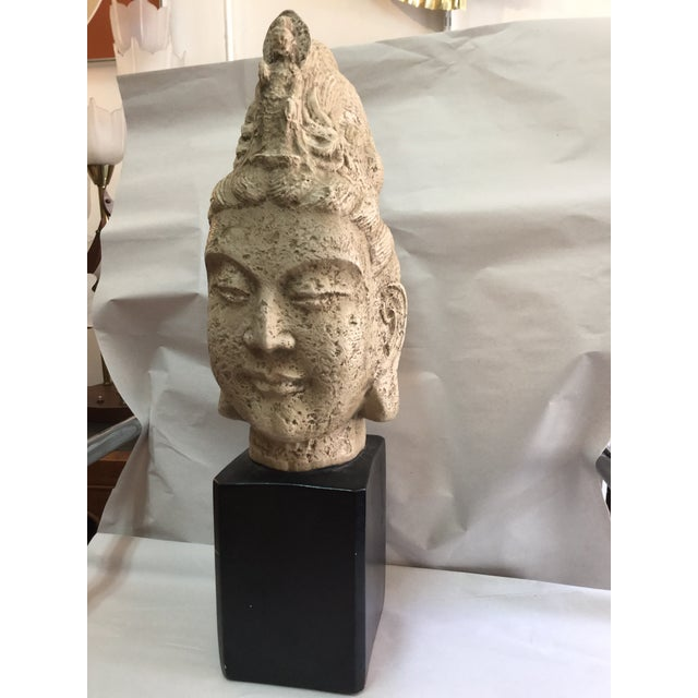 James Mont Style 1960's Buddha Head Sculpture - Image 4 of 9