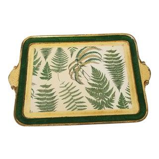Vietri Italian Hand Painted Wood Tray For Sale
