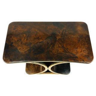 1960s Italian Aldo Tura Modern Goatskin End Table For Sale