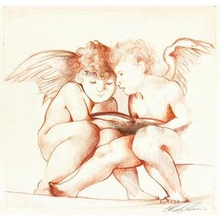 """Italian """"Sweet Secrets"""" Drawing For Sale"""