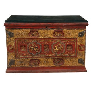 Antique Nepalese Chest For Sale
