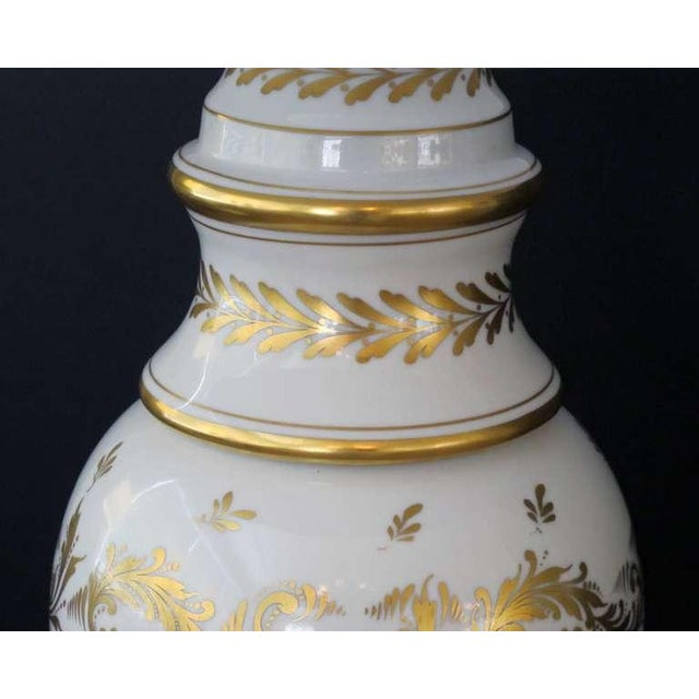 Marbo Lamp Company An American Blanc De Chine Porcelain Lamp, Labled 'Marbro Lamp Co., Los Angeles' For Sale - Image 4 of 4
