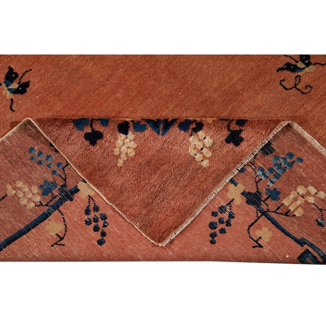 Art Deco Early 20th Century Antique Art Deco Chinese Wool Rug 9 X 15 For Sale - Image 3 of 13