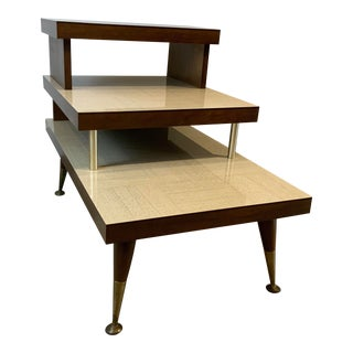 1950s Mid-Century Modern 3-Tiered End Table For Sale