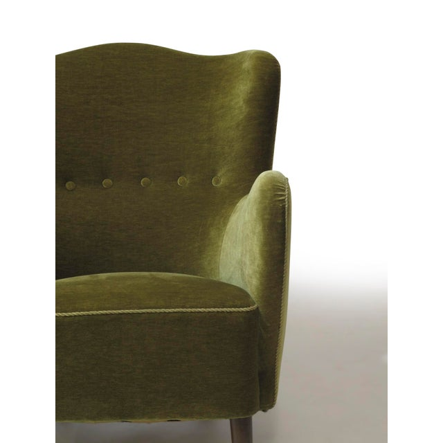 Scandinavian Mohair Lounge Chair For Sale - Image 10 of 11