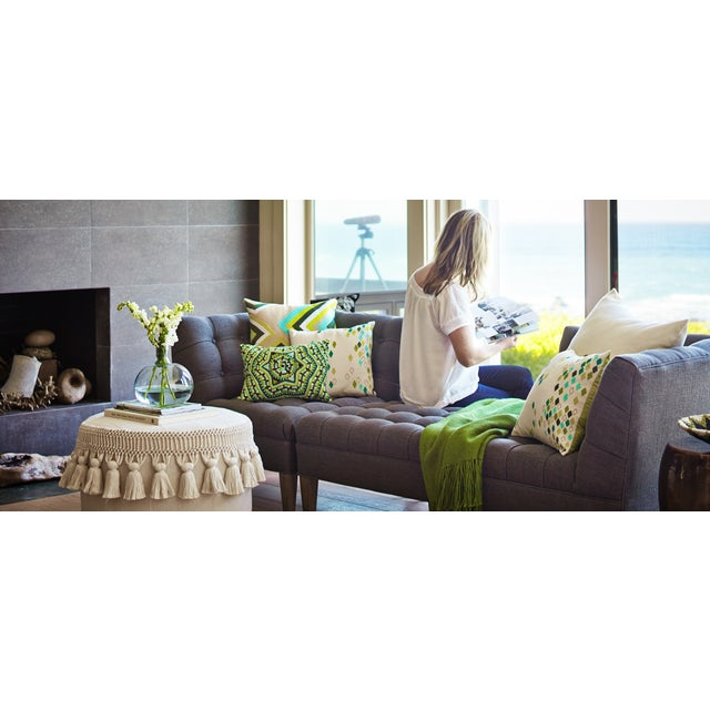 Green Diamond Pillow Cover - Image 3 of 5