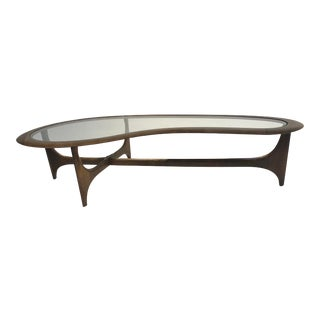 Pearsall Style Mid-Century Modern Kidney Shape Coffee Table by Lane Furniture For Sale