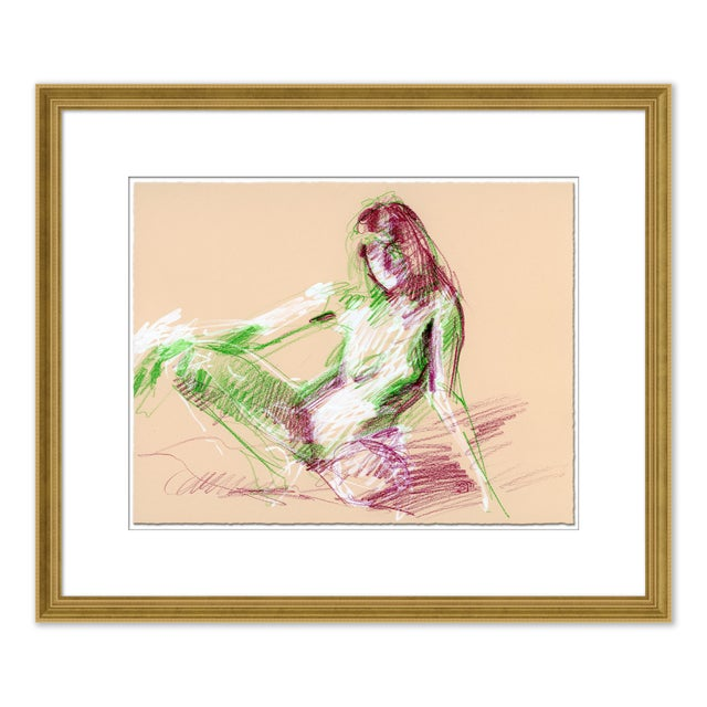Paper Figures, Set of 4 by David Orrin Smith in Gold Frame, XS Art Print For Sale - Image 7 of 11