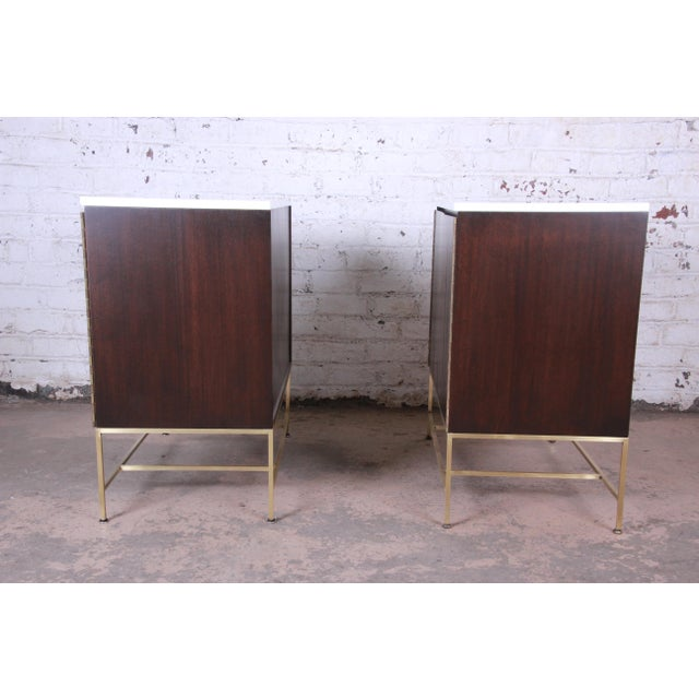 Paul McCobb Irwin Collection Mahogany and Brass Sideboard Cabinets (2 Available) For Sale - Image 9 of 13