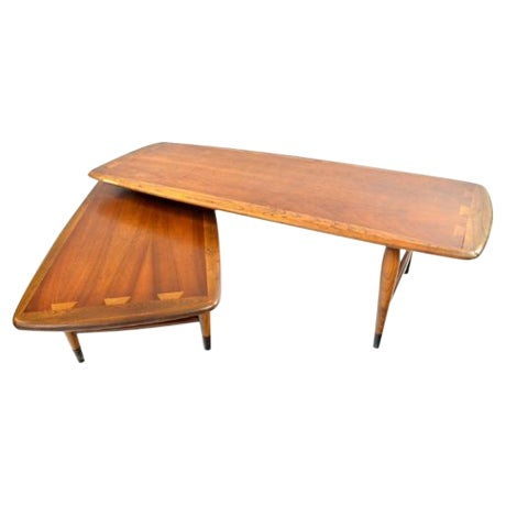 Lane Switchblade Two Sections Cocktail Table - Image 1 of 5