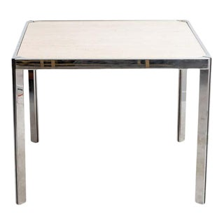 20th Century Travertine and Nickel Dining/Games Table For Sale